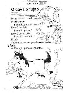 Leitura o cavalo fujão