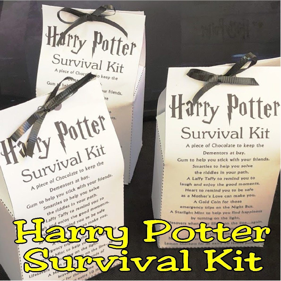 Printable Harry Potter Survival Kit Diy Party Mom