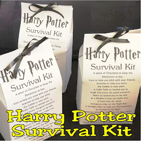 Printable Harry Potter Survival Kit by DIYPartyMom #survivalkitprintable #hogwarts #harrypotterfavor