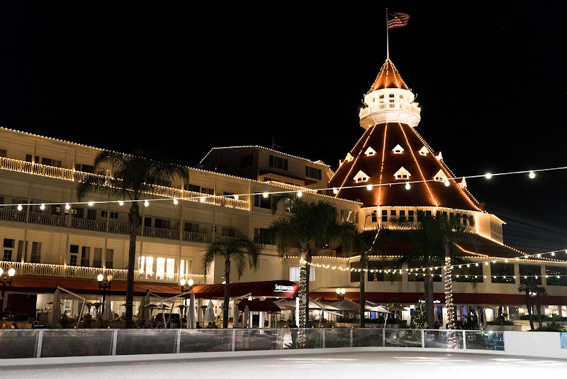 Hotel del Coronado Skating by the Sea Christmas San Diego