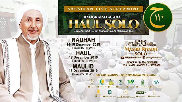 Haul Solo, Berikut Rangkaian Acaranya yang Dihadiri Ratusan Ribu Jamaah Dalam & Luar Negeri