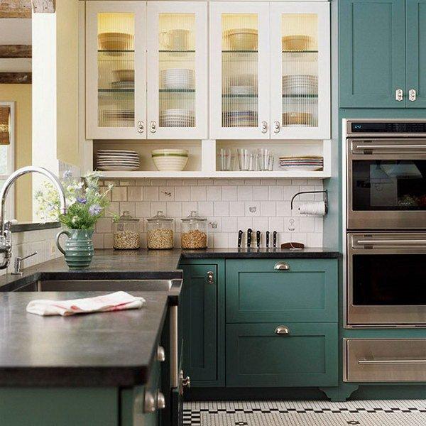 Green Kitchen Cabinets: Eye For Design: How To Create A Trendy Dark Green Kitchen