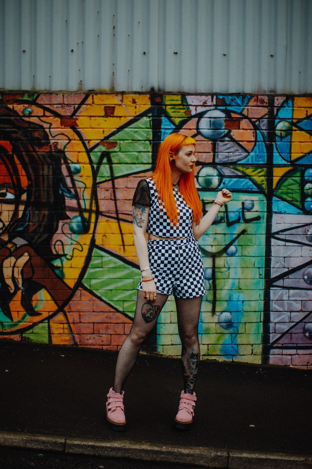 Alternative fashion blogger foxtailz styles tallulahs treads checkerboard