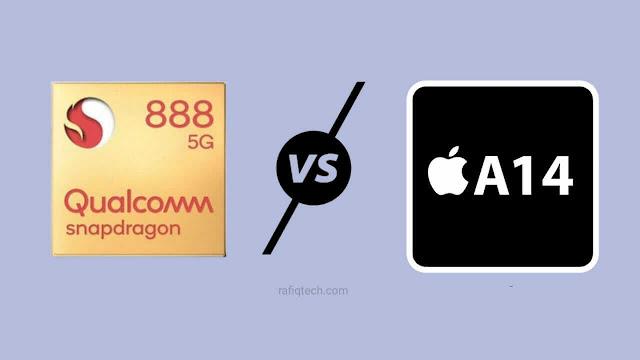 مقارنة معالج كوالكوم Snapdragon 888 ضد أبل A14 Bionic