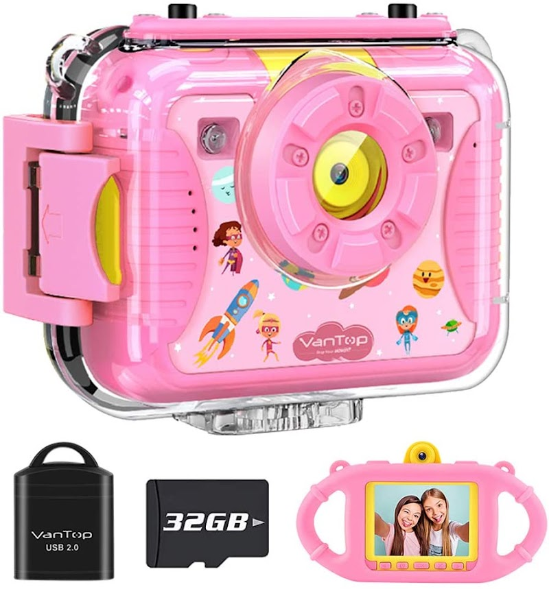 Junior K8 Kids Camera with 32GB Memory Card (Pink or Blue) 50%OFF
