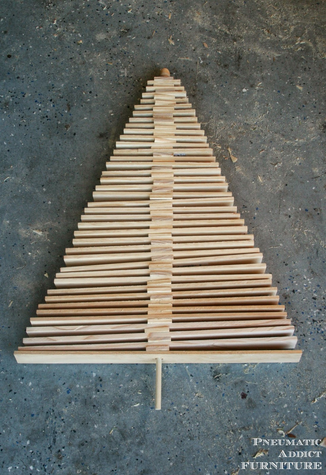 DIY Wood Slat Christmas Tree   Pneumatic Addict