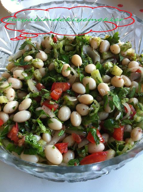 Taze Barbunya Salatası,Barbunya Salatası tarifi,degisik resimli kolay tarifler
