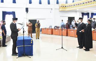 Timur Sitepu Dilantik Jadi Anggota DPRD Deliserdang PAW, Bupati Ucapkan Selamat