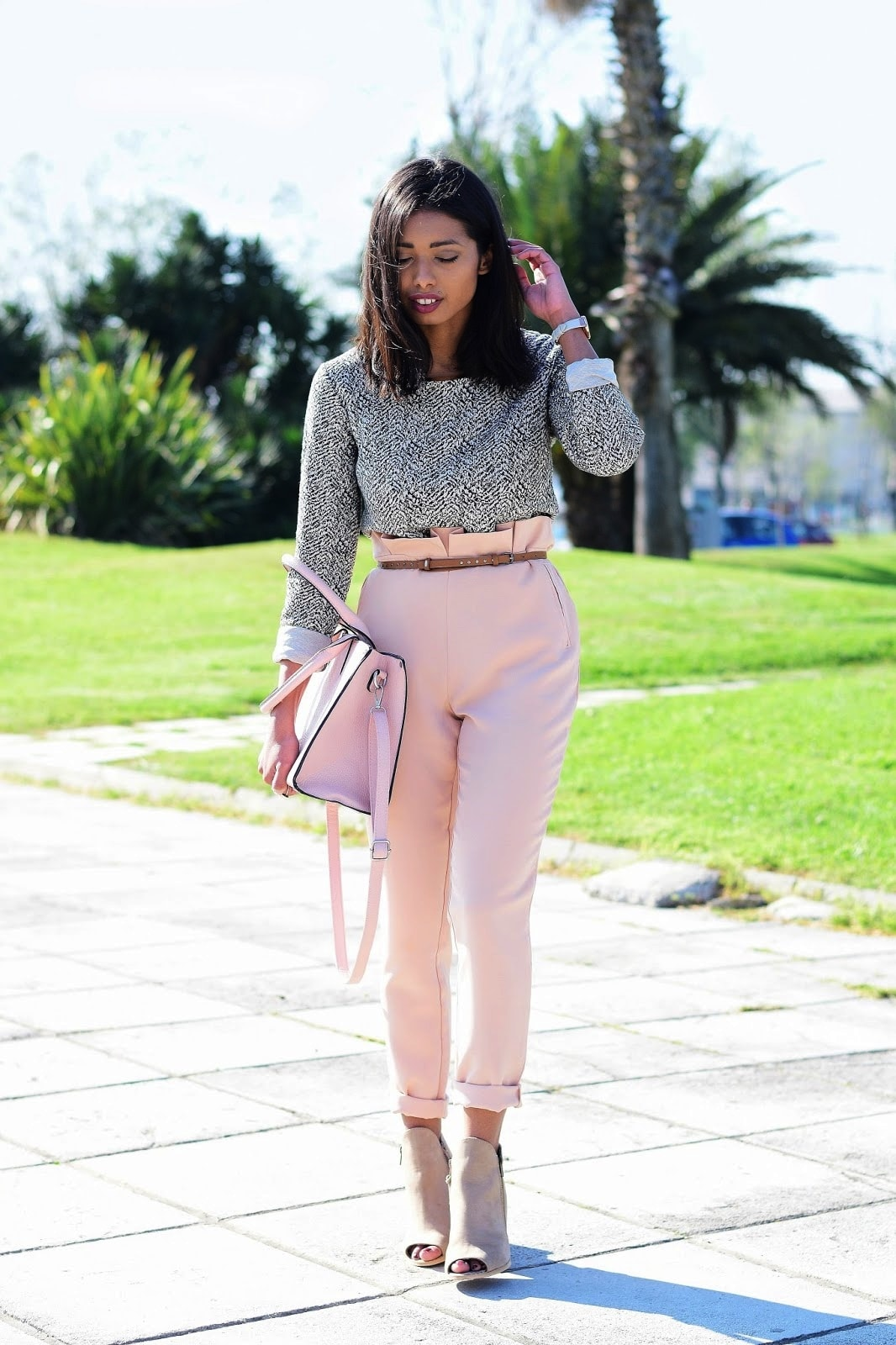 how to wear skinny trousers in spring