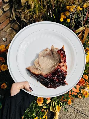 Photo of roasted pork on a plate