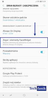 s9+ zegar i elementy FaceWidget