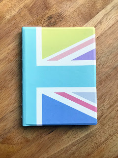 Pastel Union Jack refillable notebook from Filofax