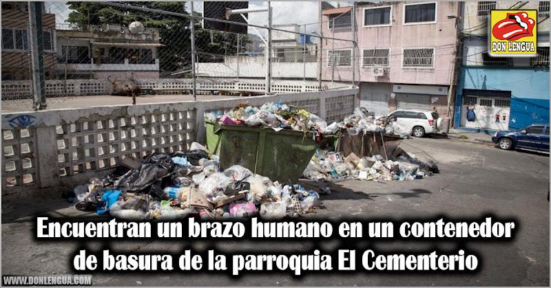 Encuentran un brazo humano en un contenedor de basura de la parroquia El Cementerio