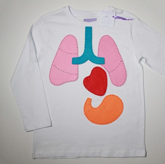camiseta del cuerpo humano