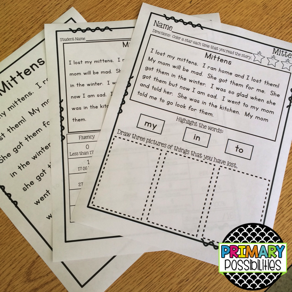 Sight Word Fluency Passages For Second Grade