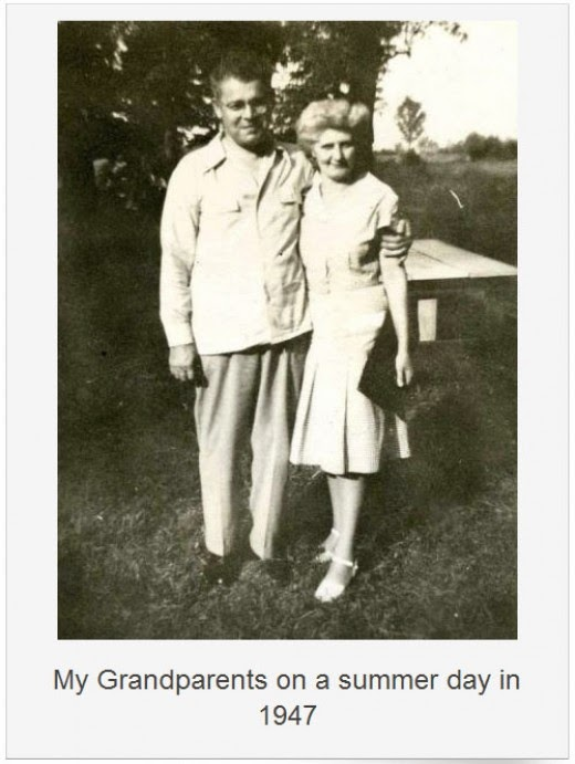 julia and alexander nagy on a summer day 1947