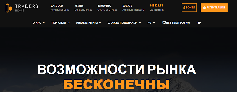 Мошеннический сайт ru.tradershome.com – Отзывы, развод. Компания TradersHome мошенники