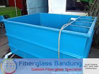 bak ikan fiber dilengkapi dengan filter