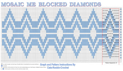 mosaic crochet graph pattern