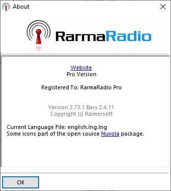 RarmaRadio Pro 2.73.1
