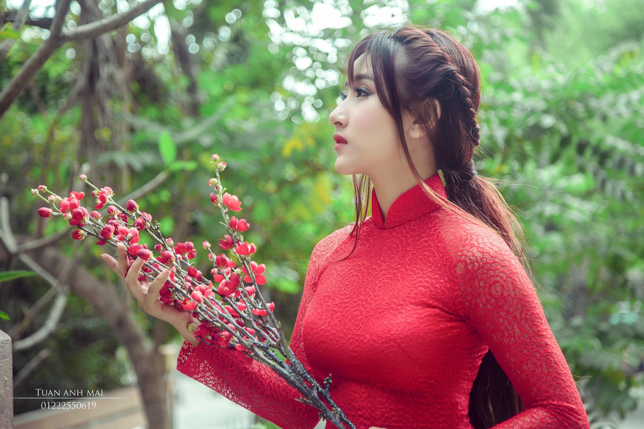 Tuyển tập girl xinh gái đẹp Việt Nam mặc áo dài đẹp mê hồn #60 - 19
