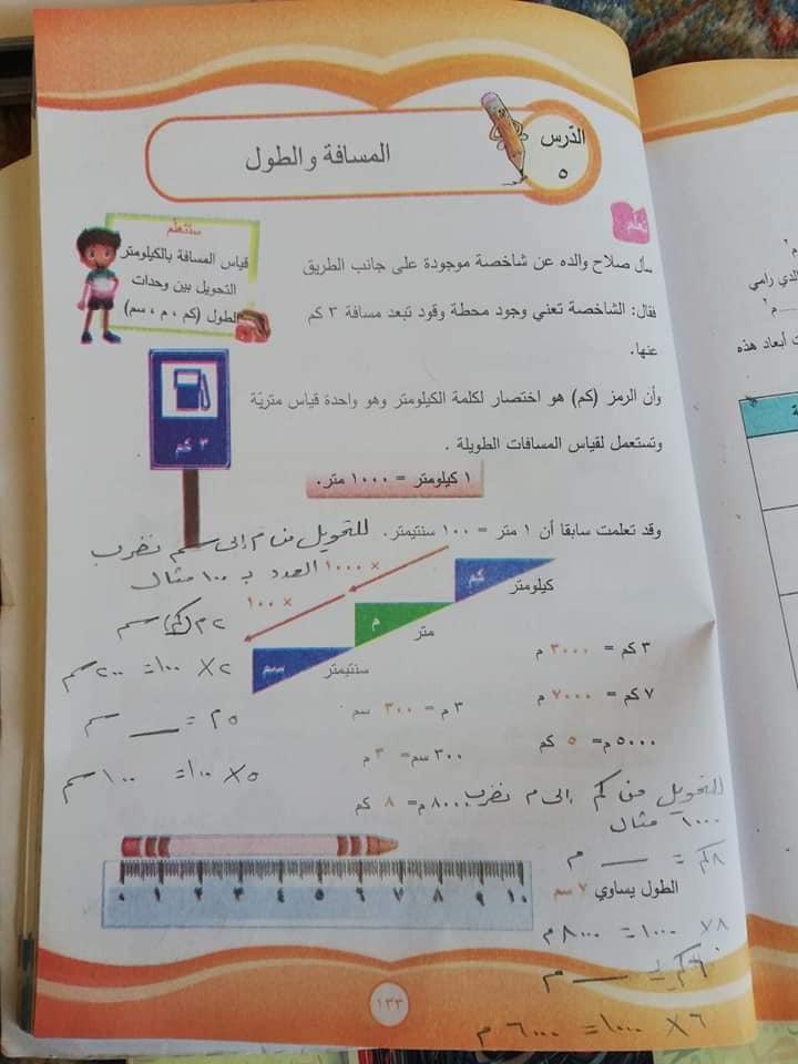 حل كتاب الرياضيات للصف الرابع الفصل الثاني كامل سوريا