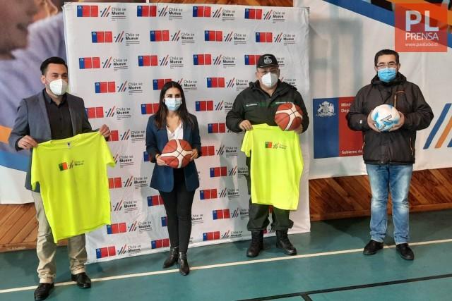 Gendarmería recibe implementación para realizar actividades deportivas en la región