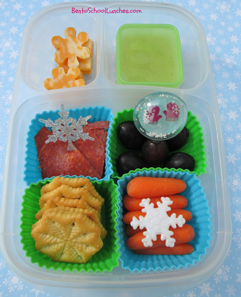 DIY winter lunchables in Easylunchboxes, bento school lunch