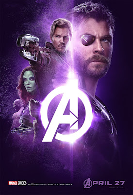 Marvel Avengers Infinity War poster Thor Odinson Peter Quill Gamora Drax Rocket Groot