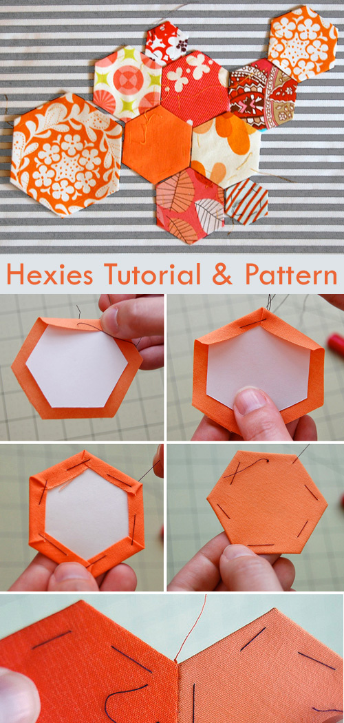 Hexies Tutorial and Pattern. How To Hexi / English Paper Pieced (EEP)