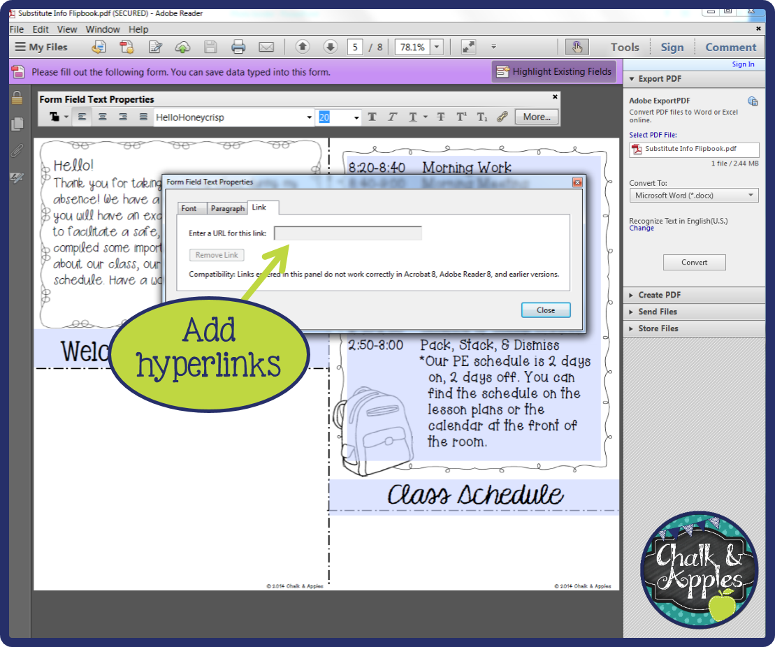 How do I edit my editable PDF? - Chalk & Apples