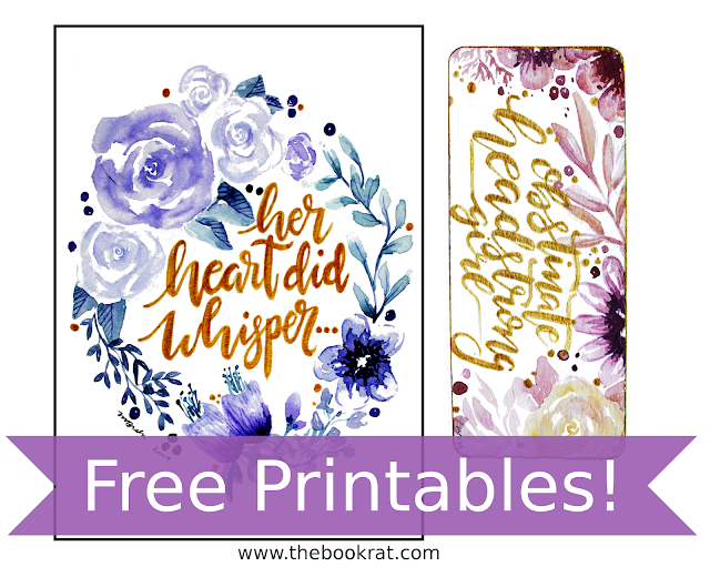 free printables, free bookmarks, free wall art, printables, jane austen, jane austen printables, pride and prejudice, pride and prejudice printables, pride and prejudice quotes, watercolor wall art, word art, quote art, hand lettering, austen in august, the book rat, book rat misty