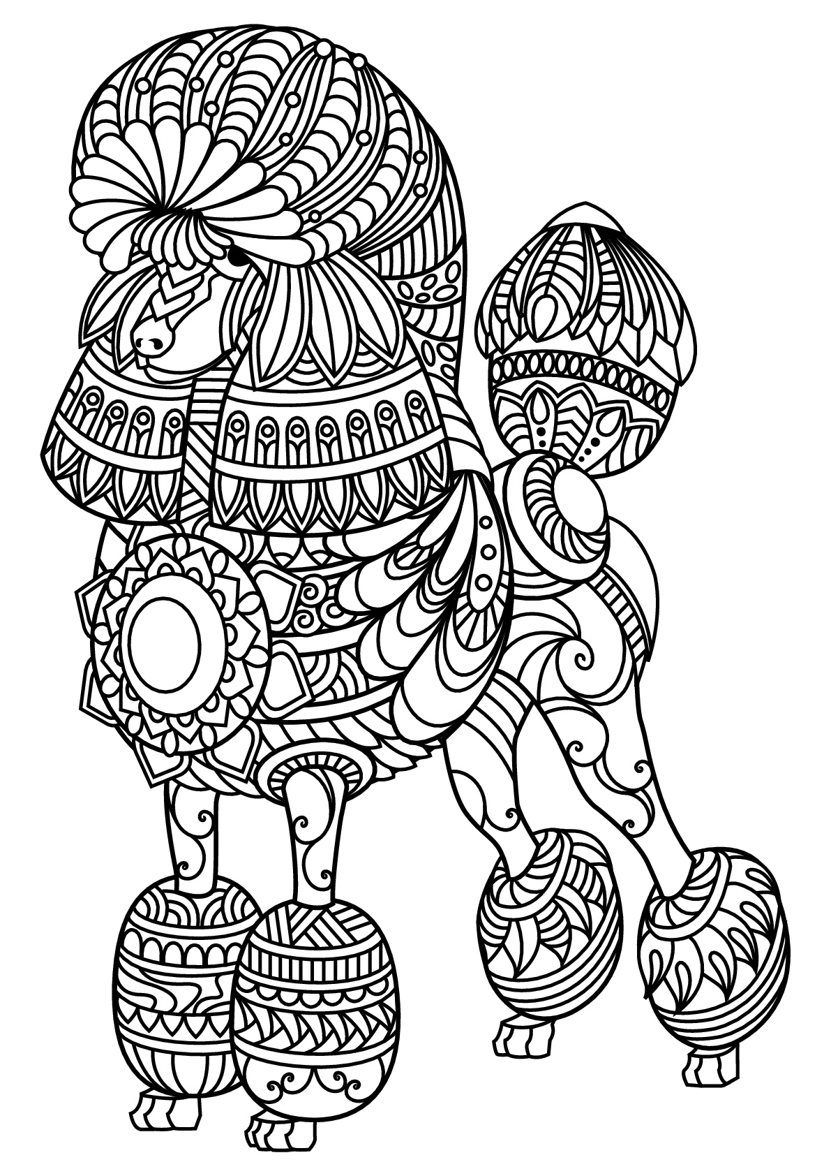 Dogs coloring pages 86