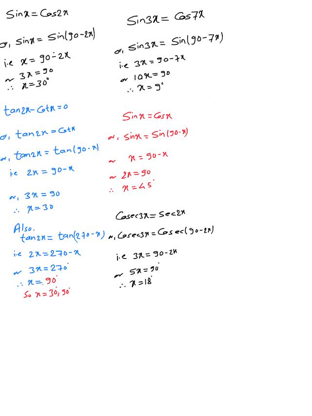 Solve the given trigonometric equation 0≤θ≤180⁰