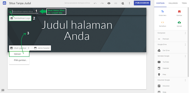 Cara Membuat Website di Google Sites - gambar 2