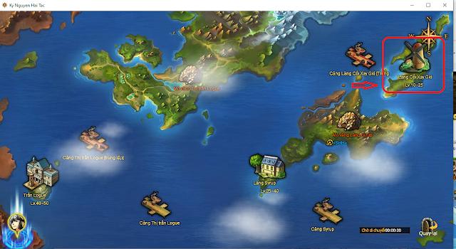 Map Làng Cối Xay Gió