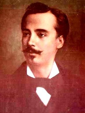 Pintura de Leoncio Prado con bigote y barba