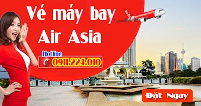 Bán vé máy bay hãng Air Asia giá gốc