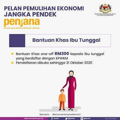 Permohonan Bantuan Khas Ibu Tunggal (BKIT) RM300 Online (Semakan Status)
