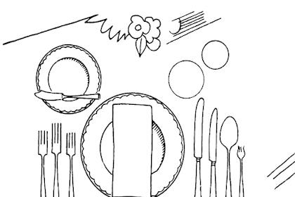 Gambar Makanan Untuk Mewarnai