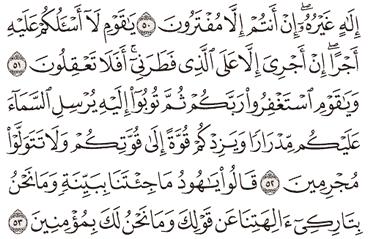 Tafsir Surat Hud Ayat 51, 52, 53, 54, 55