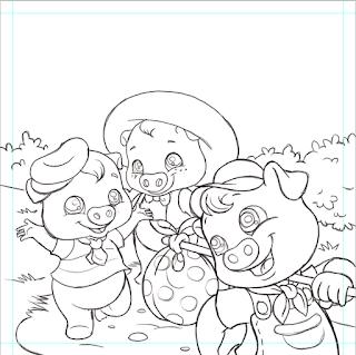 Bozze, scarabocchi e poche illustrazioni!: i tre porcellini!!!