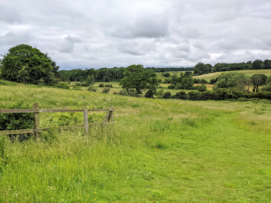 The view from Widford footpath 8 just before point 10