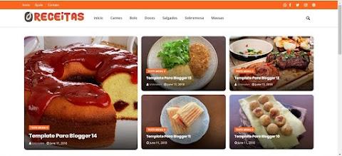Template para blogs de receitas e culinária