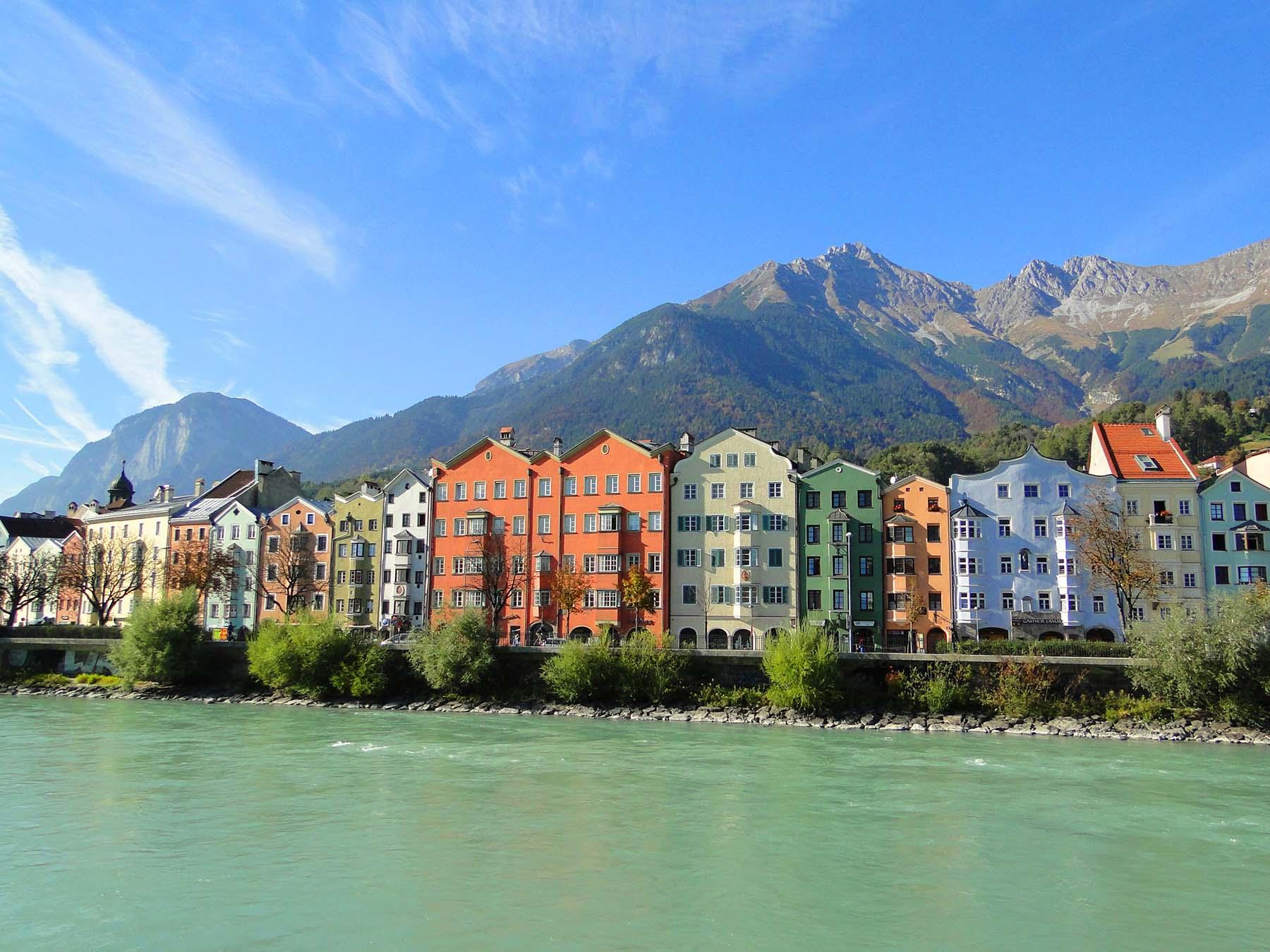 O que fazer em Innsbruck no outono, rio Inn