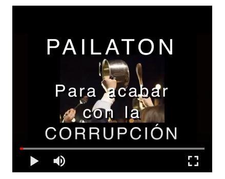 Pailaton nacional para acabar con la corrupccion