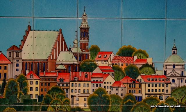Warszawa Warsaw kafle ceramiczne ceramika metro panorama Stare Miasto