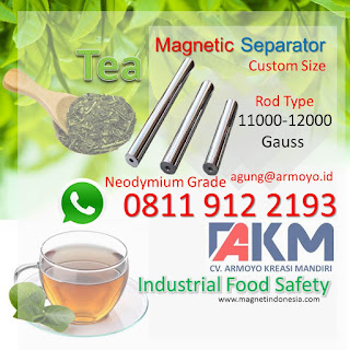 Magnetic Separator Untuk Industri Teh food safety
