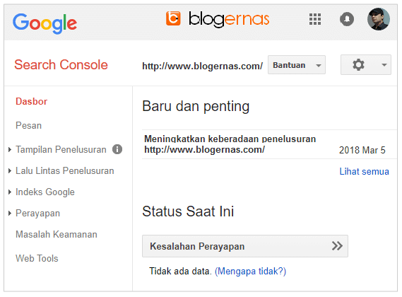 Cara Verifikasi Blog di Google Search Console Webmaster Tools