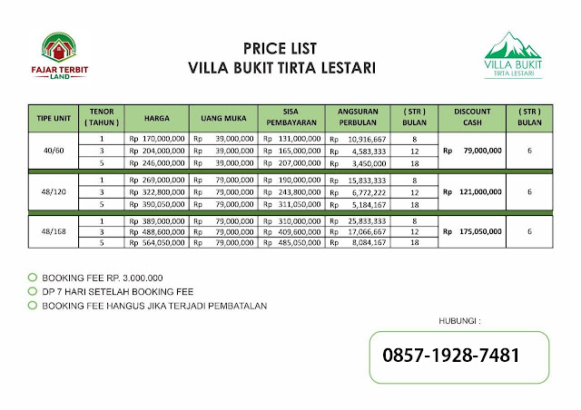 Villa Bukit Tirta Lestari